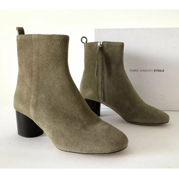 7e59105c8bf ISABEL MARANT ETOILE DEYISSA TAUPE ANKLE BOOTIES